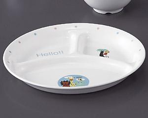 ハロー(高強度磁器)仕切皿