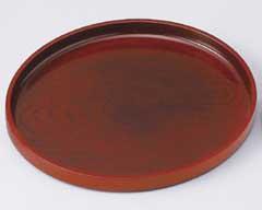 ケヤキ彫〈ノンスリップ〉24cm丸