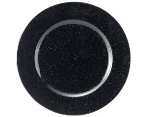 黒御影 リム17cm皿