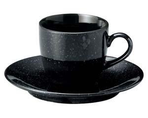 黒御影 コーヒーカップと受皿