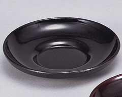 黒塗ダルマ12cm茶托