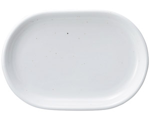 ミルキーウェイ(黒い点々あり) 31.5cmプラター