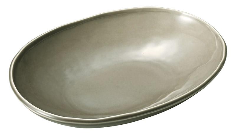 カフェズ ベージュいっぷく楕円鉢M