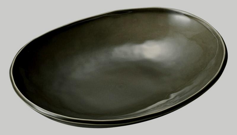 カフェズ グレーいっぷく楕円鉢M