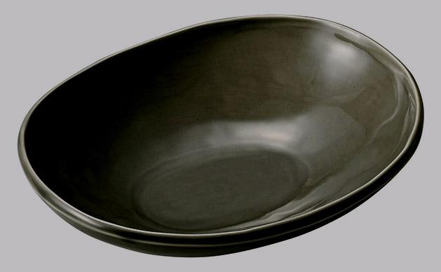 カフェズ グレーいっぷく楕円鉢S