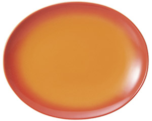コローレ オーバルプラター(L) オレンジ