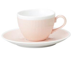カラーリフレクション ピンクコーヒーソーサー
