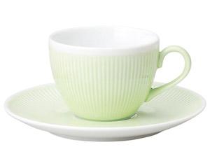 カラーリフレクション グリーンコーヒーソーサー