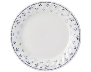 プリティブルー 7吋ケーキ皿(エクセラガーデンブルー)