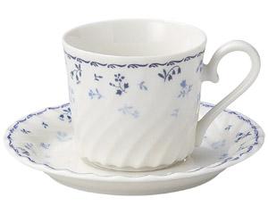 プリティブルー 兼用受皿のみ(コーヒー、ティー、アメリカン)