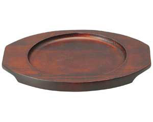 ブラックセラム(超耐熱) 丸グラタン敷台(小)