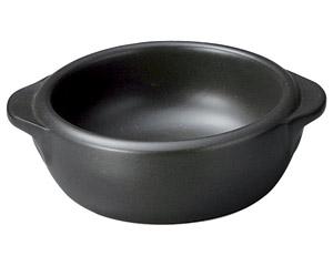 超耐熱 黒釉丸グラタン(小)