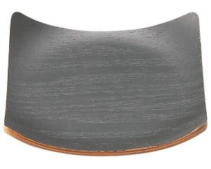 ウッドトレー ブラック正角コースター