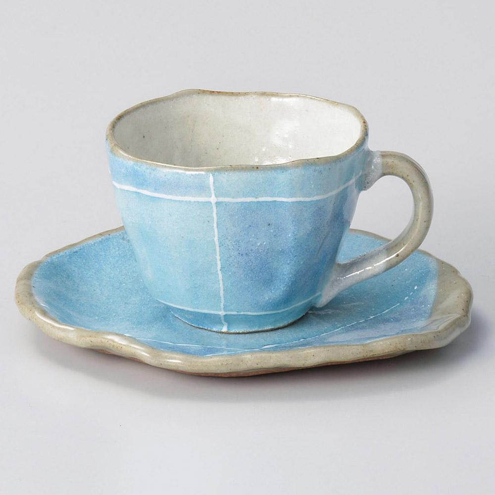 ブルー色十草タタラコーヒーカップのみ(受皿別売)