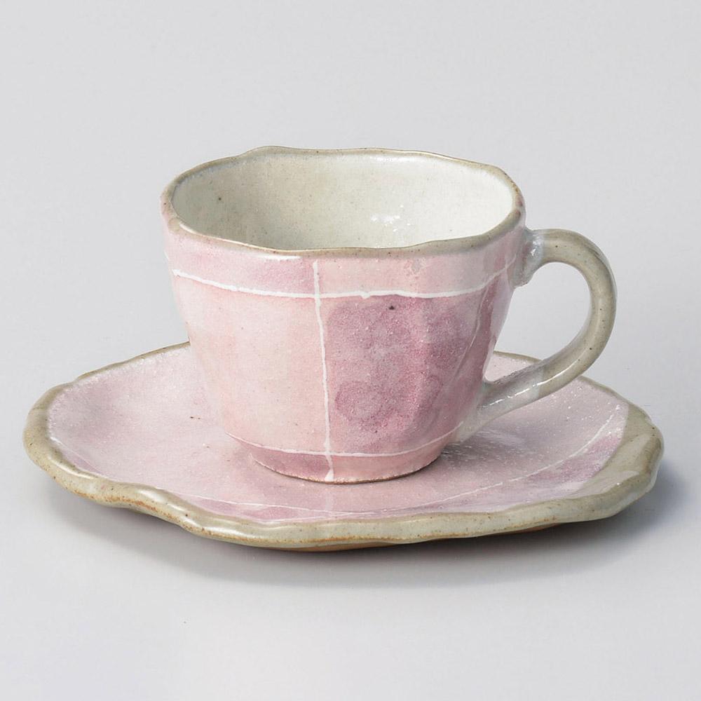 ピンク色十草タタラコーヒー碗