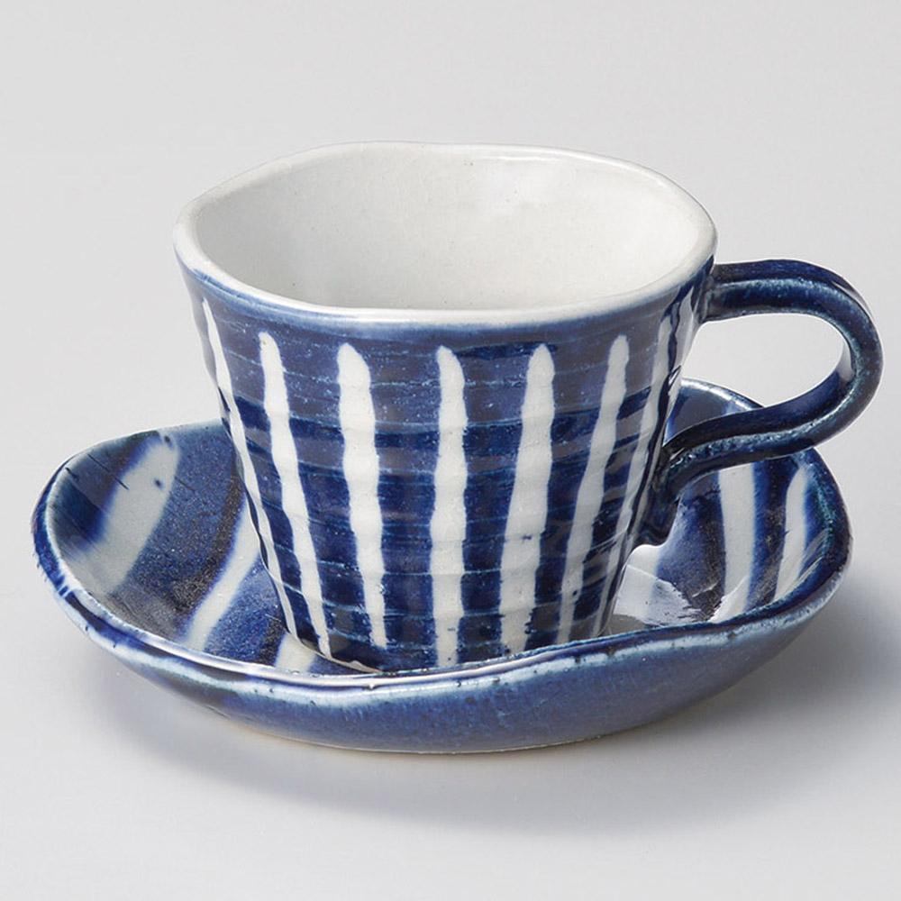 ルリ十草コーヒー碗皿