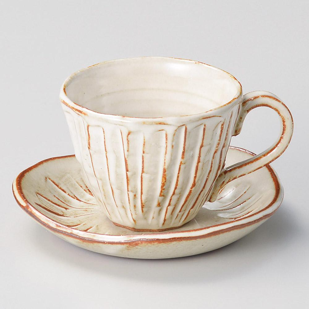 白均窯十草コーヒーカップ皿 画像