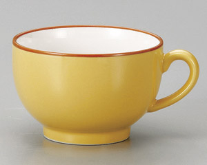黄手付スープカップ