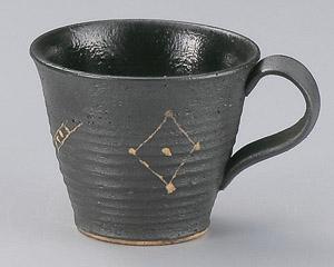 黒吹絵彫コーヒーカップのみ