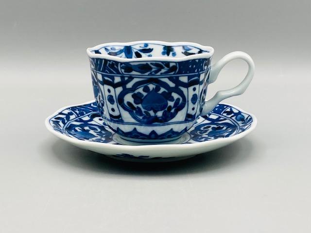 桃花コーヒー碗皿(在庫15限り) 画像