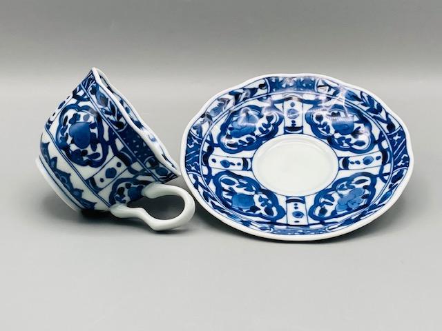 桃花コーヒー碗皿(在庫15限り) サムネイル2