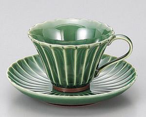 かすみ(緑)菊コーヒーカップのみ
