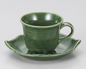 織部木葉コーヒーカップのみ