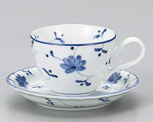 花唐草コーヒーカップと受皿