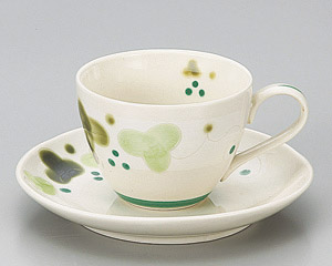 緑彩ぶどうコーヒーカップと受皿