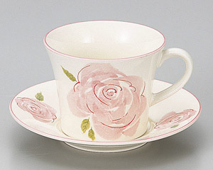 ピンクローズコーヒーカップのみ(軽量)