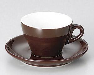プリートカプチーノ(Brown)カップと受皿