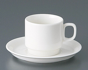 ボンスタックコーヒーカップと受皿