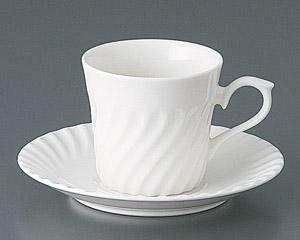 ネジコーヒーカップと受皿
