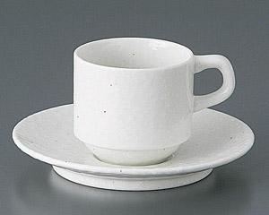 粉引黒い斑点スタックコーヒーカップのみ