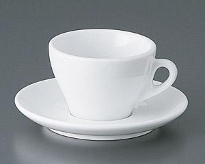 プリートカプチーノカップと受皿