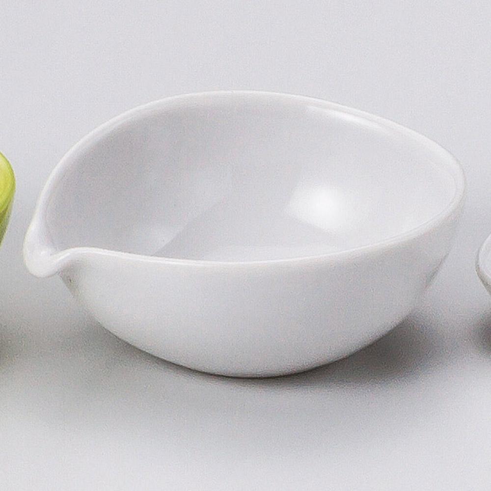 カラー片口小鉢 ホワイト 画像
