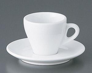 プリートエスプレッソカップと受皿