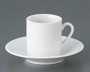 白スモールコーヒーカップと受皿