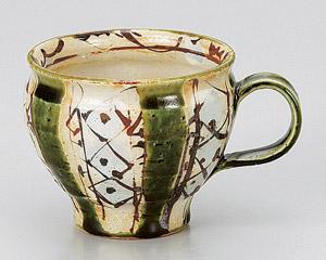 織部ペルシャ紋マグカップ