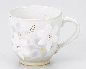 白呉須コスモスマグカップ(パープル)