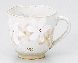 白呉須コスモスマグカップ(ピンク)