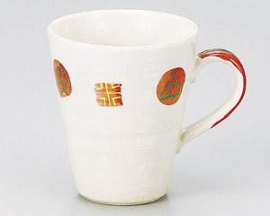 粉引小紋マグカップ