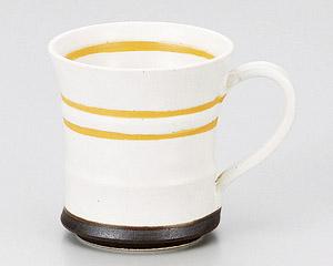 アースオレンジマグカップ白