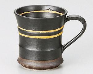 アースオレンジマグカップ黒