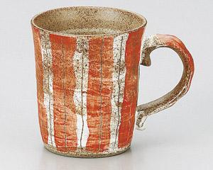 線彫十草マグカップ(赤)