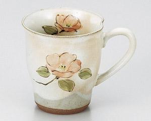 粉引野の花椿マグカップ