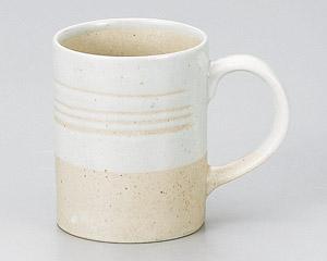 白刷毛切立マグカップ
