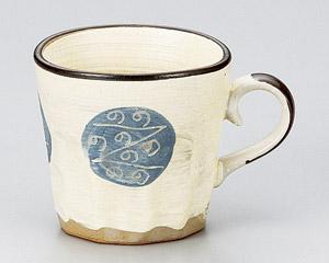 黄粉引ゴス幾何紋ソギマグカップ