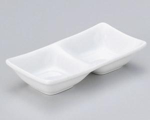 スワン ホワイト二品皿(小)