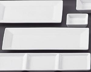 SQ ピュアホワイト30cm中長角皿